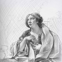 study of Penitent Magdalen by Simon Vouet