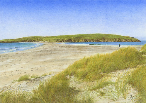 St Ninian's Isle & Tombolo: Print In Mount: