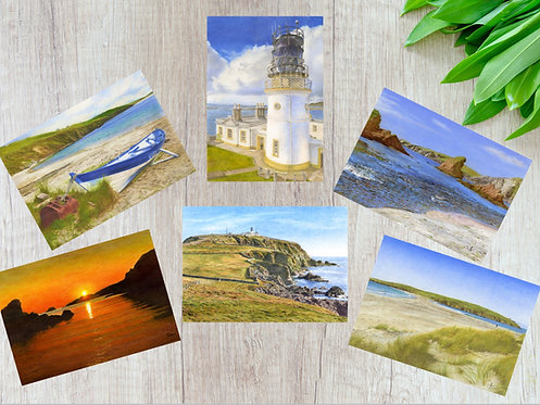 Shetland Summer Scenery, Set of 6 Greetings Cards