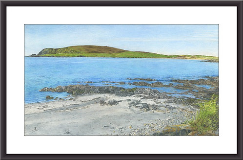 "Scord beach looking towards Fitful Head: 6x9"" Frame/108x190mm Print"