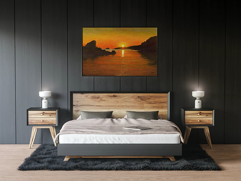 Spiggie Bay Sunset: