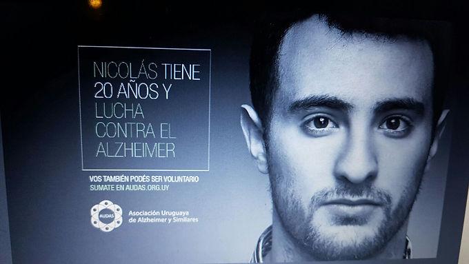 Publicidad de la Asociacion Uruguaya de Alzheimer.