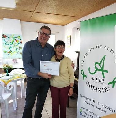Junto a ADAP ( Asociacion de Alzheimer Paysandu) Organizadora del Lanzamiento de la Federacion FADUR.