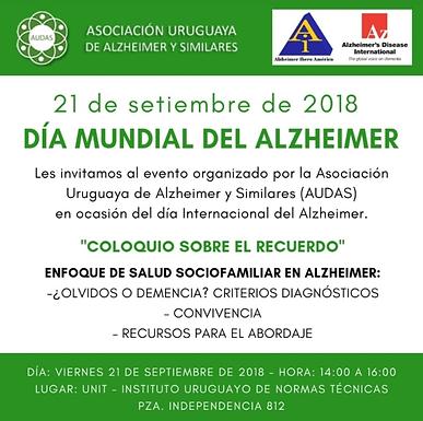 21 de Septiembre, Día Mundial del Alzheimer.