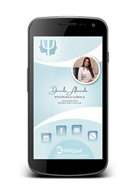 Daniela Siqueira Psicologia. Cartao Interativo digital IntroCard para psicologia, direito, advogados  e mais.