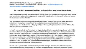 Buck for SCASD School Board: Education for a Sustainable Future