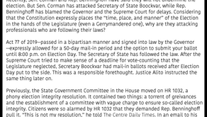 Sen. Corman & Rep. Benninghoff must secure a peaceful transition