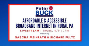 Buck focuses on rural broadband with local leader & renowned tech expert