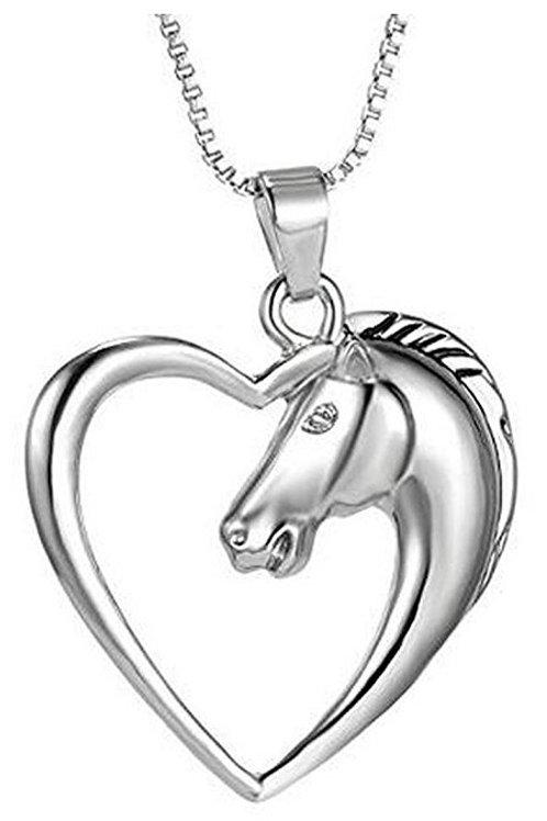Horse in Heart Pendant