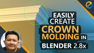 How to easily create crown molding in Blender 2.8x