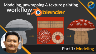 UV unwrapping and texture painting workflow in Blender | Part 1 : Modeling