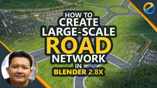 How to create large-scale road network in Blender 2.8x