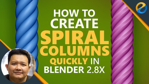 How to create spiral columns quickly in Blender 2.8x
