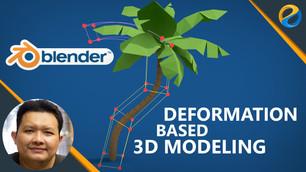 Blender deformation based 3D modeling