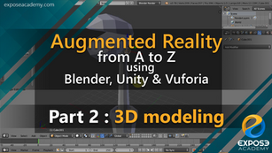 Augmented Reality from A to Z using Blender, Unity and Vuforia | part 2 : 3D modeling