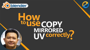 How to use copy mirrored UV correctly