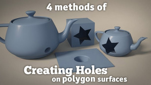 Creating holes on polygon surface inside 3ds Max