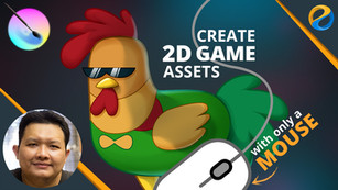Create 2D game assets with only a mouse in Krita