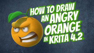 How to draw an angry orange in Krita 4.2