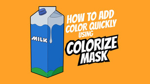 How to add color quickly in Krita using Colorize Mask