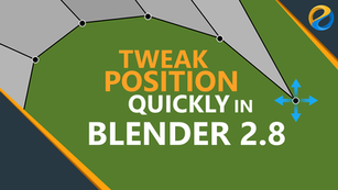 How to quickly tweak position in Blender 2.8
