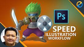 Photoshop speed illustration workflow