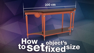 How to set object's fixed size in 3ds Max