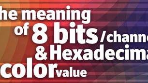 The meaning of 8 bits per channel and hexadecimal color values