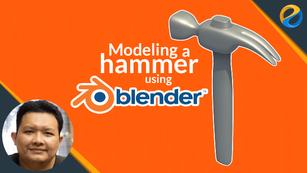 Modeling a hammer using Blender