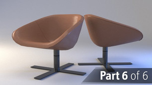 Modeling and rendering a real chair product part 6 : Lighting and rendering