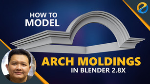 How to model arch moldings in Blender 2.8X
