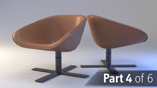 Modeling and rendering a real chair product part 4 : Stitches and the leg