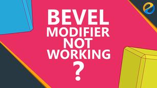 Blender bevel modifier not working?