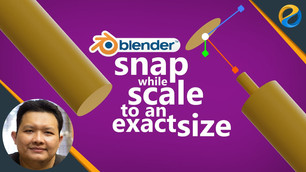 How to snap while scale to an exact size in Blender 2.8