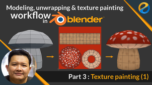UV unwrapping and texture painting workflow in Blender   Part 3 : Texture painting