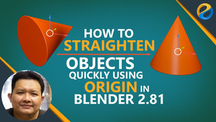 How to straighten objects quickly using the new origin feature in Blender 2.81