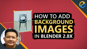How to add background images or reference pictures in Blender 2.8x