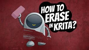 How to erase in Krita