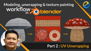 UV unwrapping and texture painting workflow in Blender | Part 2 : UV unwrapping