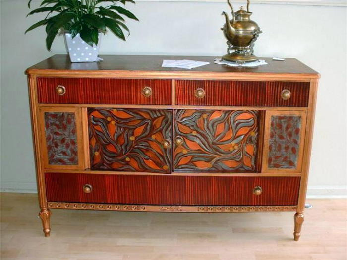 painted buffet