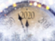 Countdown to midnight. Retro style clock