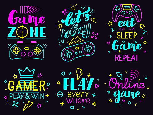 bigstock-Neon-Video-Game-Phrases-Onlin-3