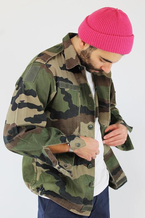 Vtg 1960 military camo shirt