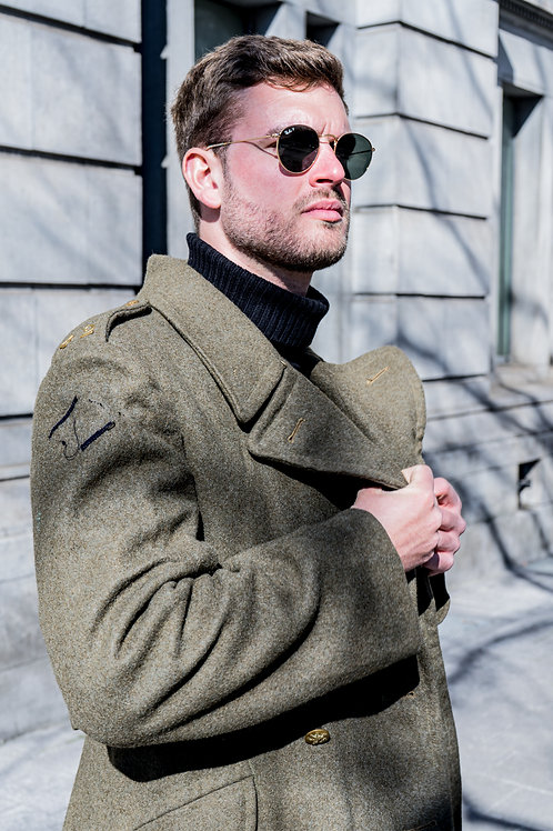 1952 military wool trench-coat