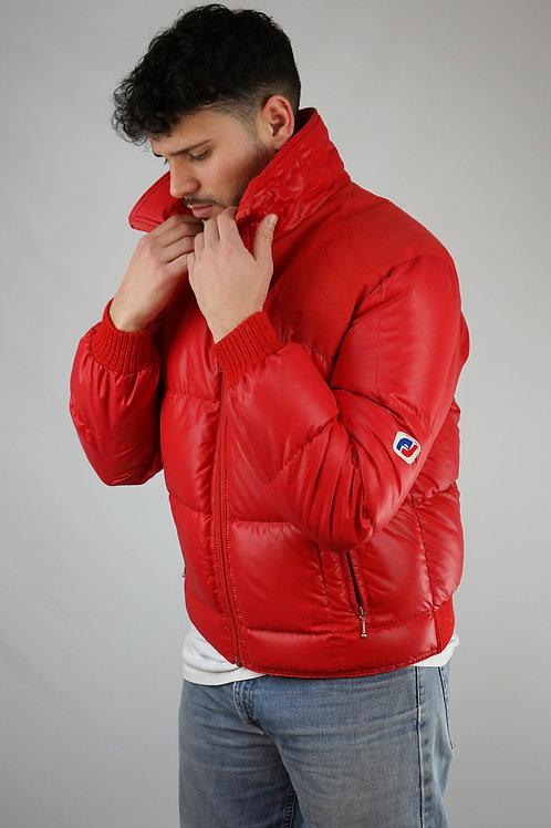 Vtg André Jamet red  unisex down jacket