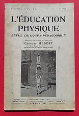 Revue l'éducation physique -Georges Hébertbert