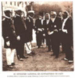 Le Président Fallières félicitant Hébert 1911