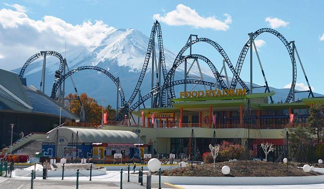 Japan - Tokyo - Sakura City - Fuji Q Highland Mount fuji rollercoaster ride