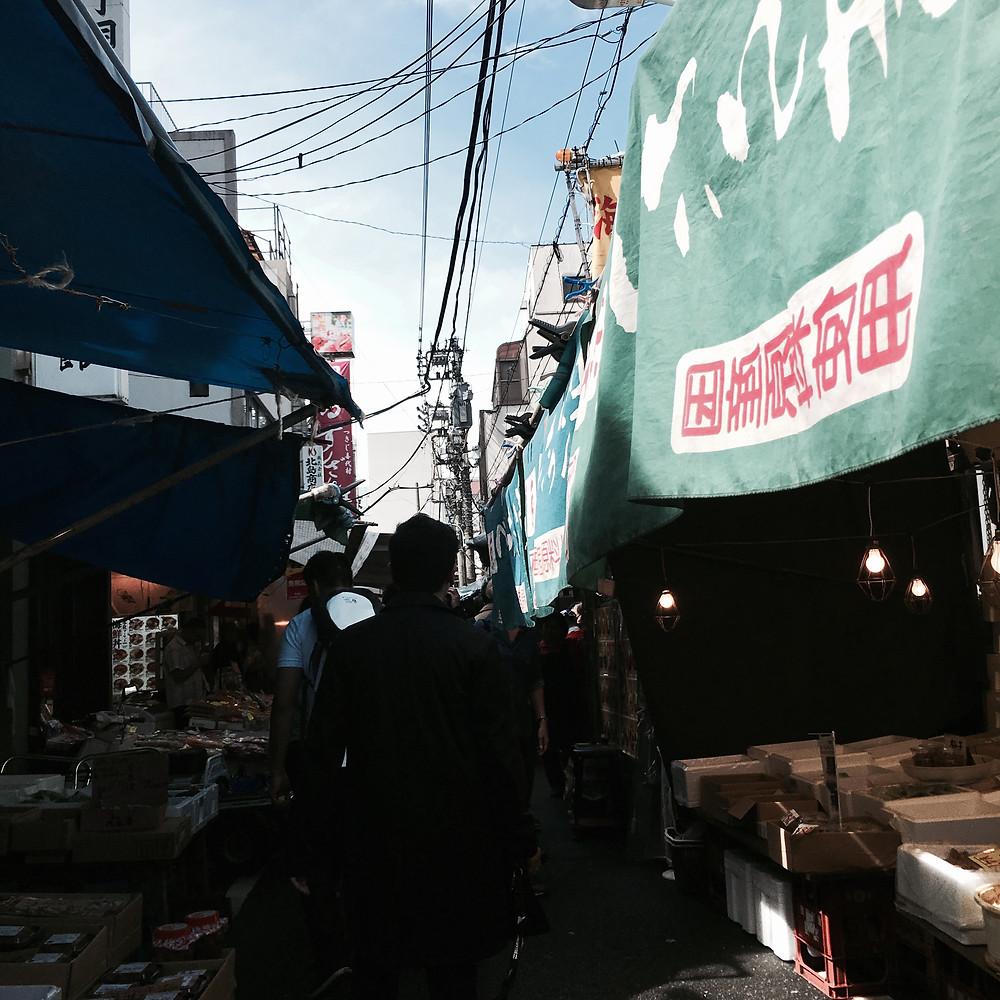 Japan - Tokyo - Sakura City - Tsukiji Market Seafood Raw Sushi Sashimi