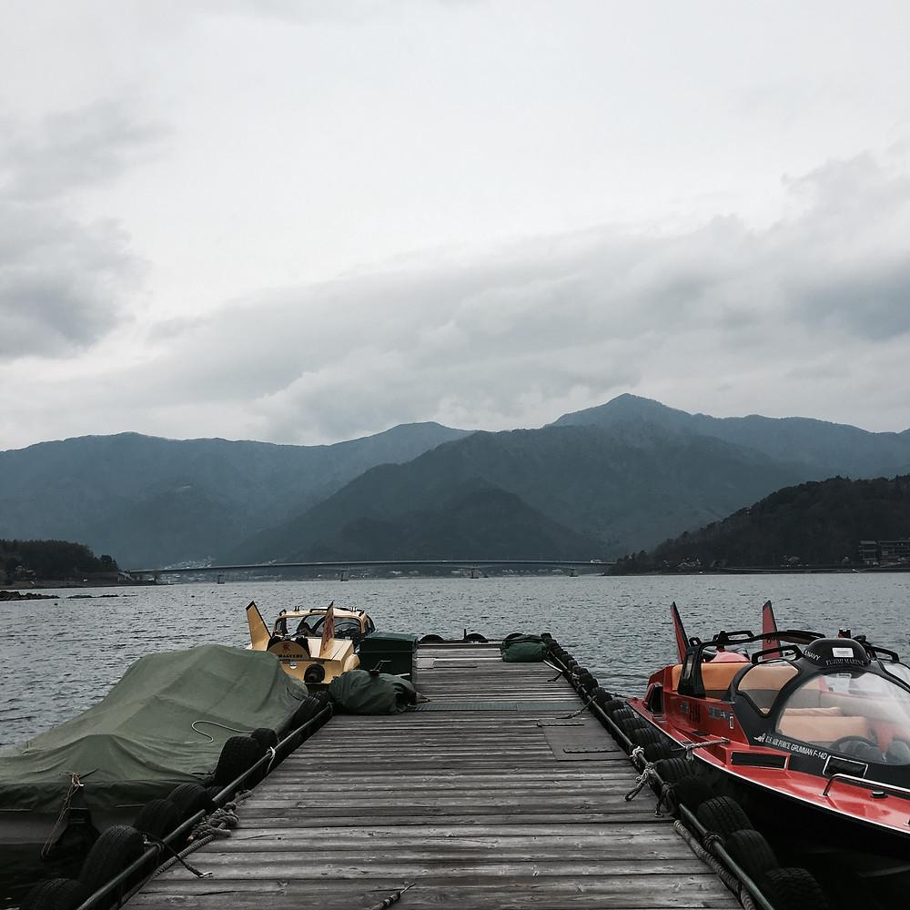 Japan - Tokyo - Sakura City - Lake Kawaguchiko Boat Jetty